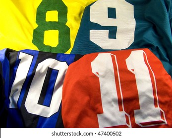 photo of the four different sports uniform