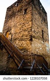 Photo of a fragment of the old tower in Znojmo. South Moravia, Czech Republic.