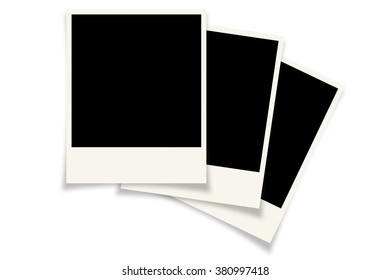 Photo frame, blank frame on a white background