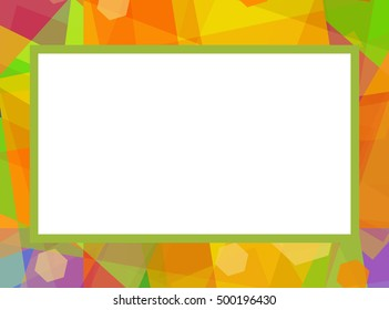 Photo frame, bright colorful background