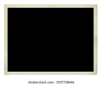 photo frame card isolated on the white backgrounds