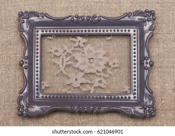 Photo frame with delicate lace