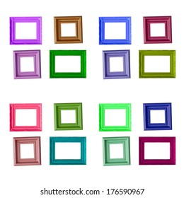 photo frame isolated on wite background