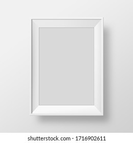 Photo frame portrait in white background