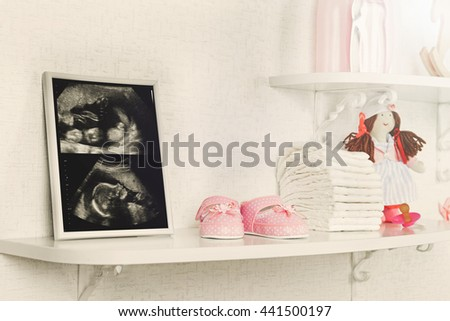 Photo Frame Ultrasound Scan Baby Accessories Stock Photo Edit Now