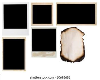 photo frames isolated on white
