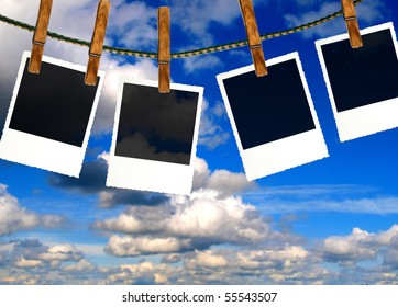 Photo frames with nature background