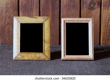 photo frames on table