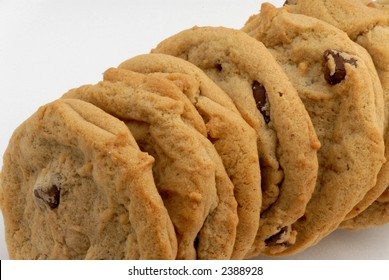 Photo of fresh chocolate chip cookies