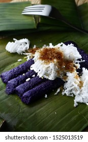 Photo of freshly cooked Puto Bumbong