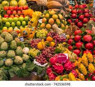 Photo of fruit at the market of barcelona.