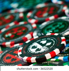 Photo gambling chips close-up. casino.