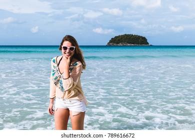 Photo of Girl at Kata Beach in Phuket Island, Thailand
