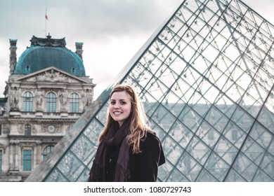 Photo of Girl at Louvre Museum in Paris, France