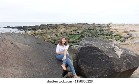 photo of a girl in nature in Portugal