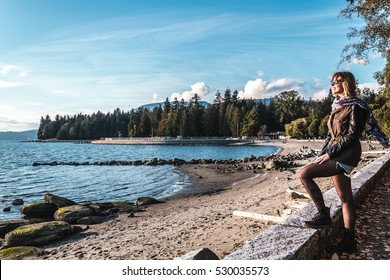 Photo of Girl near Stanley Park in Vancouver, Canada