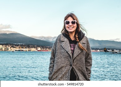 Photo of Girl at Vancouver Mountains, Canada