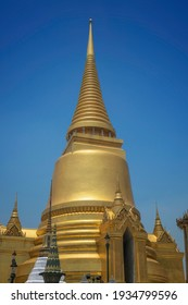 Photo of the golden tower at the grand palace in Bangkok Thailand