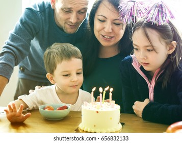 Photo Gradient Style with Family Event Birthday Party Togetherness