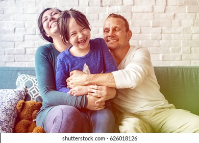 Photo Gradient Style with Family Spend Time Happiness Love Relation
