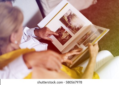 Photo Gradient Style with Senior Couple Look Photo Album