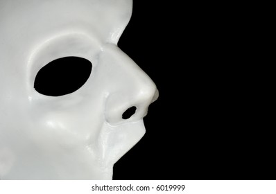 Photo of a Half WHite Mask - Phantom of the Opera - Background