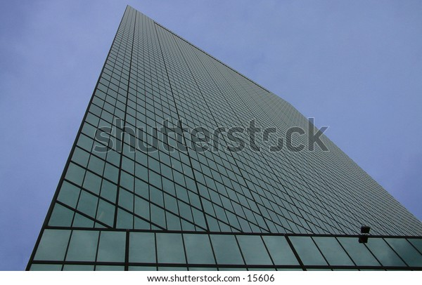 A photo of the Hancock tower in Boston