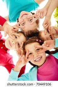 Photo of happy children having a fun