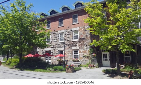 Photo of the historic Wakefield Mill in Wakefield Que, CAN.  The hotel and restaurant there are high quality.