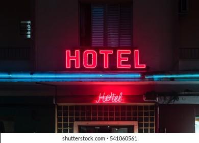 Photo of Hotel Sign near Paulista Avenue in Sao Paulo, Brazil