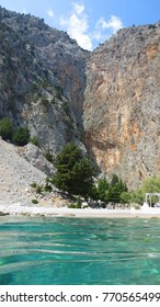 Photo from iconic beaches of Symi island with turquoise clear waters, Dodecanese, Greece