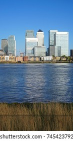 Photo of iconic Canary Wharf as seen from Greenwich, Isle of Dogs, London, United Kingdom