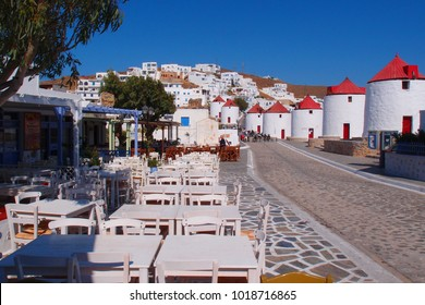 Photo from iconic castle and village of Astypalaia with unique traditional windmills, Dodecanese, Greece