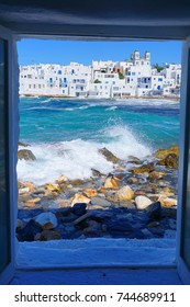 Photo from iconic Naousa one of the most picturesque fishing villages in the Aegean, Paros island, Cyclades, Greece