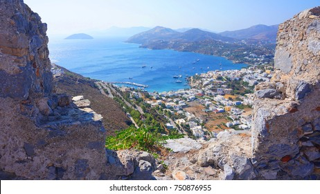 Photo from iconic picturesque castle of Panteli of Leros island with unique views to the island, Dodecanese, Greece