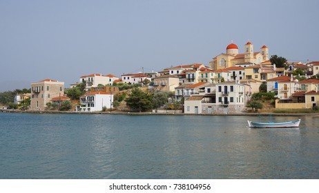 Photo from iconic picturesque fishing village of Galaxidi with traditional neoclassic houses, Fokida, Greece