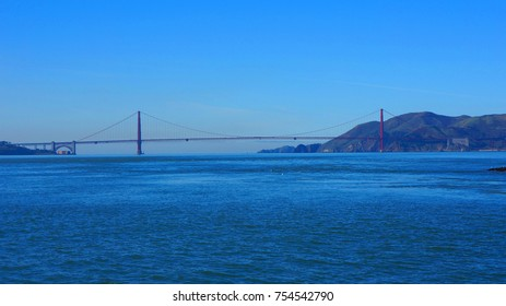 Photo from iconic San Francisco bay as seen from Alcatraz State Penitentiary, California, United States of America
