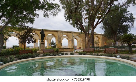 Photo from iconic Upper Barrakka gardens on a cloudy morning, Valletta, Malta