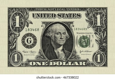 Photo illustration of a U.S. one dollar bill retouched and re-illustrated to create a short dollar bill.