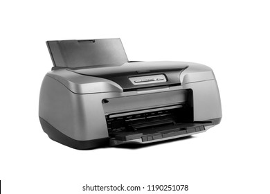 photo inkjet printer, on white background; isolated
