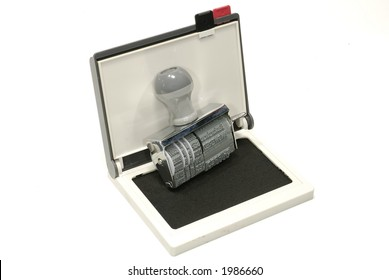 Photo of a Inkpad and Rubber Stamp
