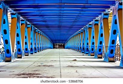Photo inside the big city bridge