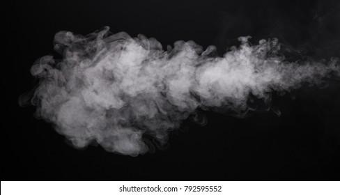 Photo isolated smoke of e-cigarette