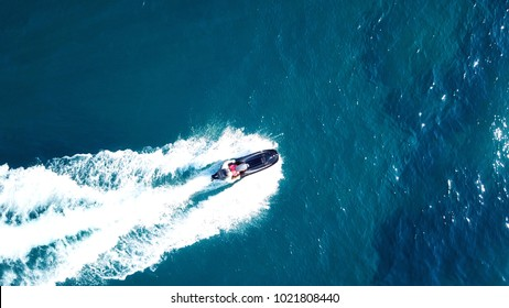 Photo from jet ski cruising in deep blue waters