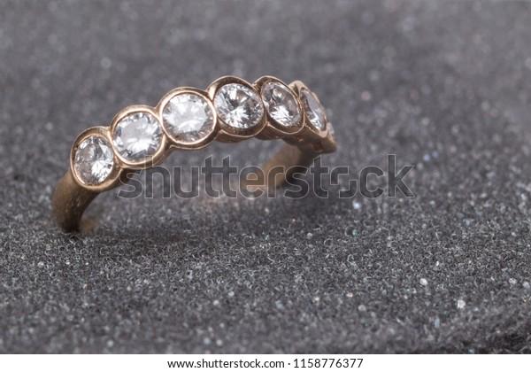Photo Jewelry Royal Diamond Ring On Stock Photo Edit Now 1158776377