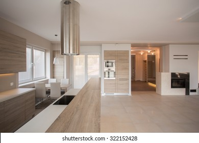 Photo of light and spacious stylish villa interior