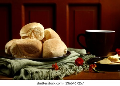 Photo of local Filipino delicacy Pan de Sal or salted bread rolls