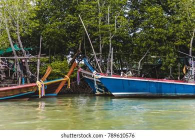 Photo of Long Tail Boats in Phuket Island, Thailand