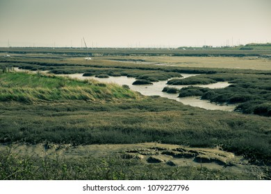 photo of low tidal grounds in Essex, UK