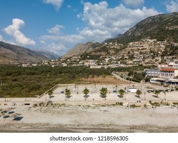 Photo of Lower Qeparo with Upper Qeparo in background (Albanian Riviera - Albania)